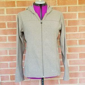 REI Co-OP Fleece Grey/Tan Zip Up Jacket